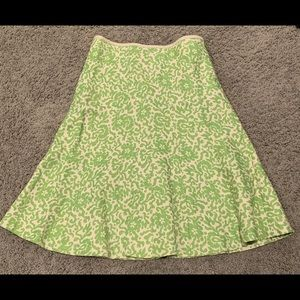 J.Crew green Paisley print skirt